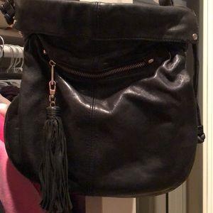 Soft black leather purse